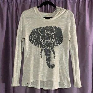 Free Kisses Elephant graphic long sleeve s…